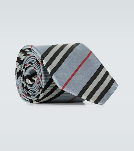 Cravate rayée Monston en soie - Burberry - Modalova
