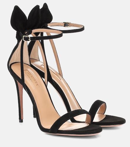 Sandales Bow Tie 105 en daim - Aquazzura - Modalova