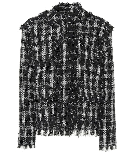 Veste à carreaux en tweed - MSGM - Modalova