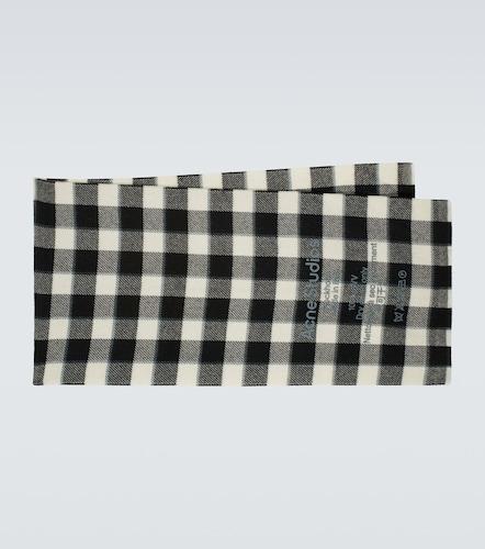 Écharpe en laine à carreaux - Acne Studios - Modalova