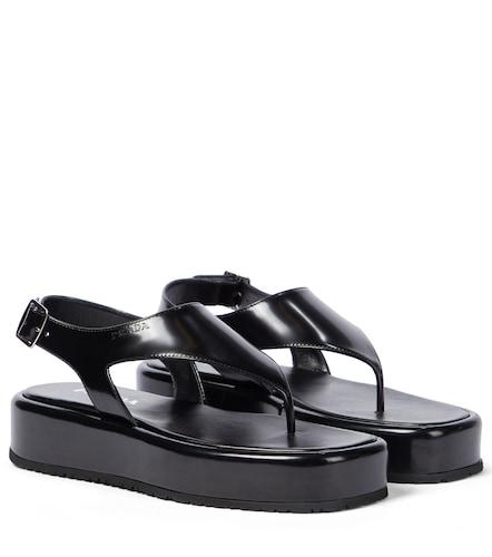 Sandales en cuir à plateforme - Prada - Modalova