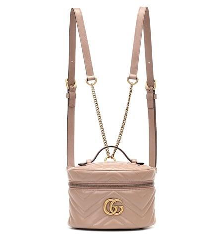 Sac à dos GG Marmont Mini en cuir matelassé - Gucci - Modalova