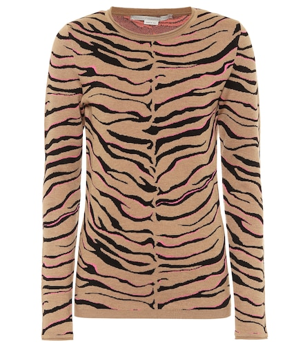 Pull en laine mélangée à motif tigré - STELLA McCARTNEY - Modalova