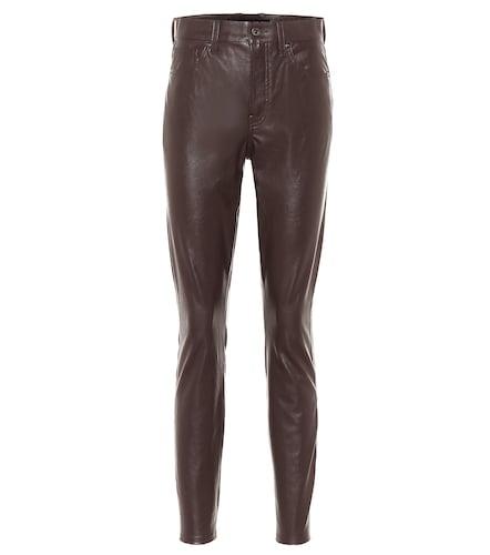 Pantalon à taille haute en cuir synthétique - Veronica Beard - Modalova