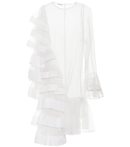 Robe asymétrique en soie - Dries Van Noten - Modalova