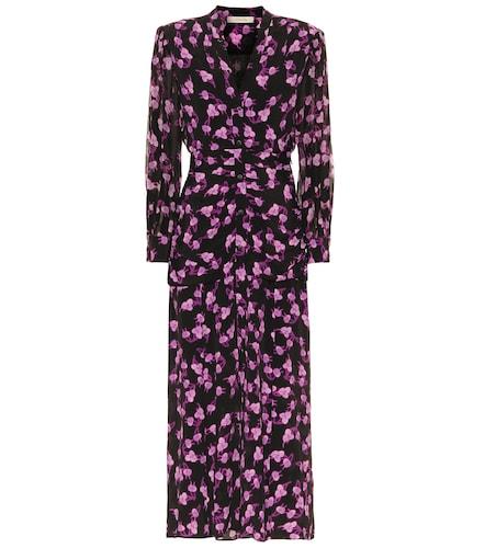 Robe chemise midi Radiant Leaves imprimée en soie mélangée - Dorothee Schumacher - Modalova