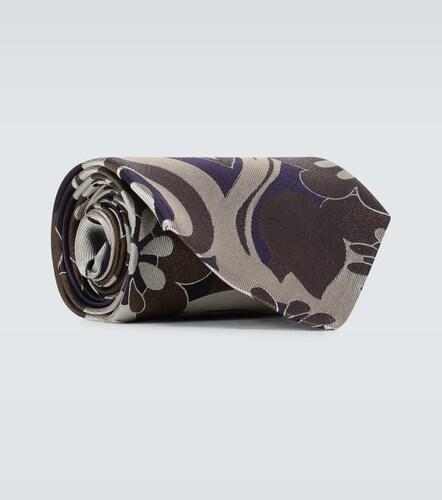 Cravate en soie à imprimé fleuri - Dries Van Noten - Modalova