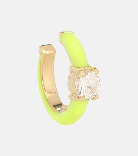 Boucle d'oreille unique Aria en or 18 ct et diamant - Melissa Kaye - Modalova
