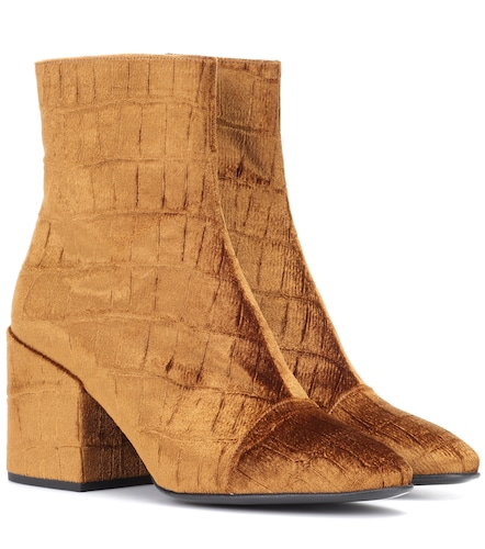 Bottines en velours - Dries Van Noten - Modalova