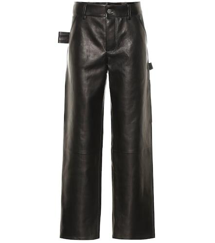 Pantalon droit en cuir - Bottega Veneta - Modalova