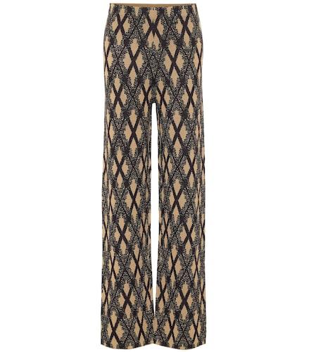 Pantalon en jacquard de laine mérinos mélangée - Dries Van Noten - Modalova