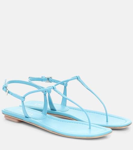 Sandales en cuir verni - Prada - Modalova