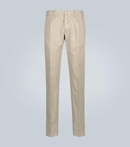 Pantalon chino slim en coton et lin - Incotex - Modalova