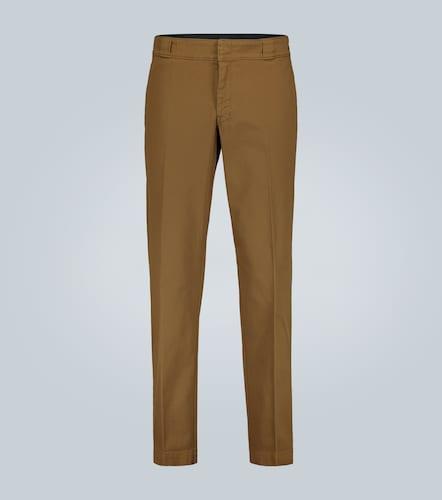 Pantalon en coton stretch à logo - Prada - Modalova