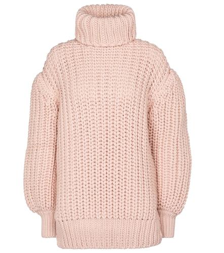 Pull à col roulé en laine - Fendi - Modalova