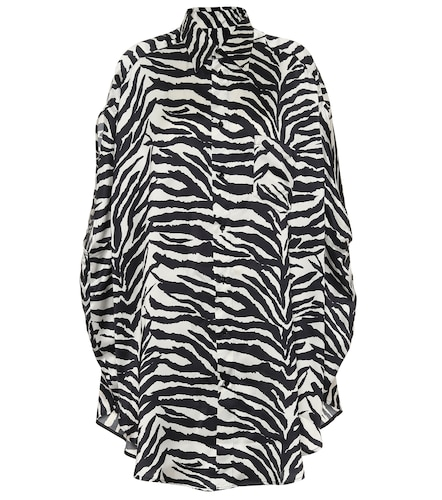 Robe chemise à motif zébré - MM6 Maison Margiela - Modalova