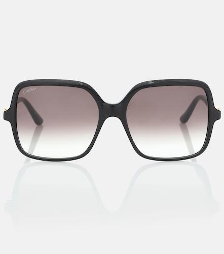 Lunettes de soleil Signature C carrées en acétate - Cartier Eyewear Collection - Modalova