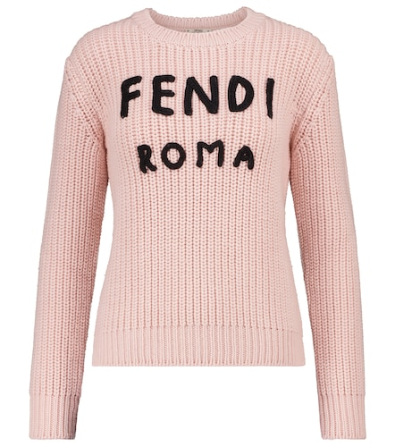 Pull en laine à logo - Fendi - Modalova