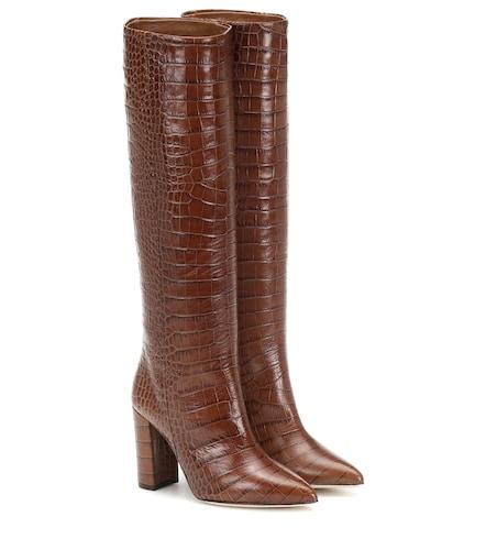 Bottes en cuir embossé - Paris Texas - Modalova