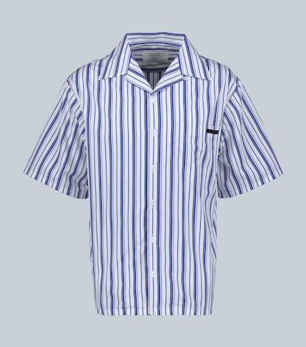Chemise manches courtes rayée - Prada - Modalova
