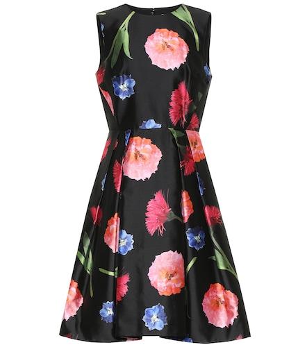 Robe en soie et coton à fleurs - Carolina Herrera - Modalova