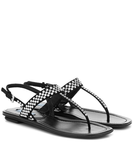 Sandales en daim - Prada - Modalova