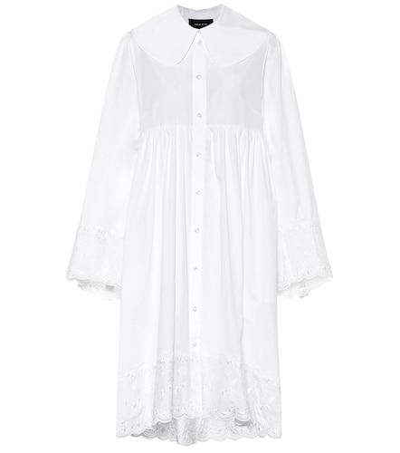 Robe chemise brodée en coton - Simone Rocha - Modalova