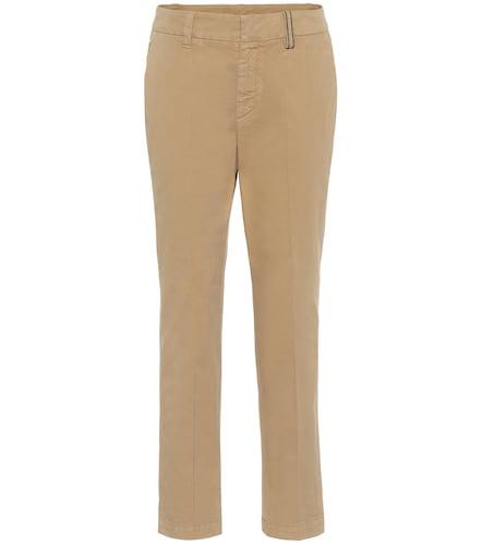 Pantalon en coton mélangé - Brunello Cucinelli - Modalova