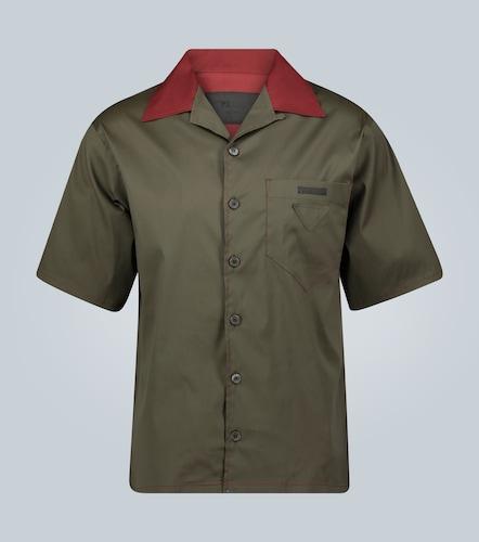 Chemise manches courtes à col cubain - Prada - Modalova