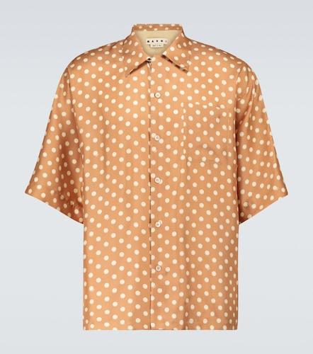 Chemise imprimée à manches courte en soie - Marni - Modalova
