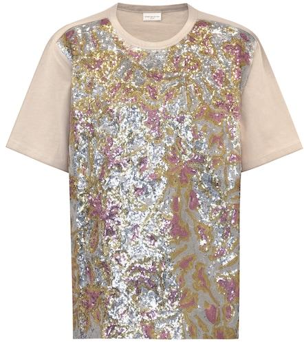 T-shirt en coton à ornements - Dries Van Noten - Modalova