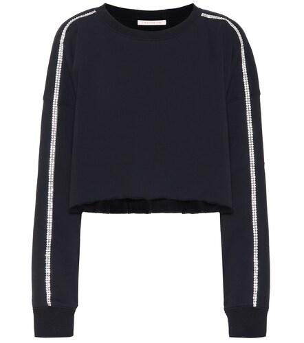 Sweat-shirt en coton à cristaux - Christopher Kane - Modalova