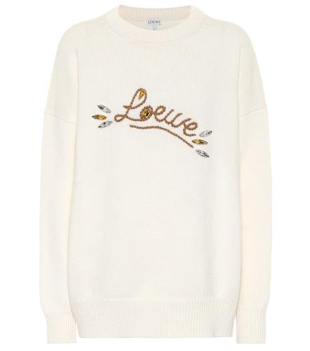 Pull en laine à logo et ornements - Loewe - Modalova