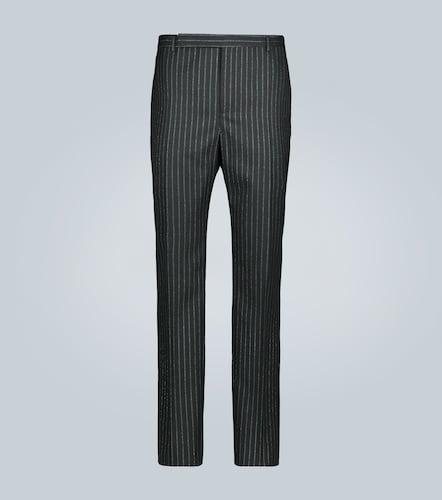 Pantalon de costume rayé lamé - Saint Laurent - Modalova