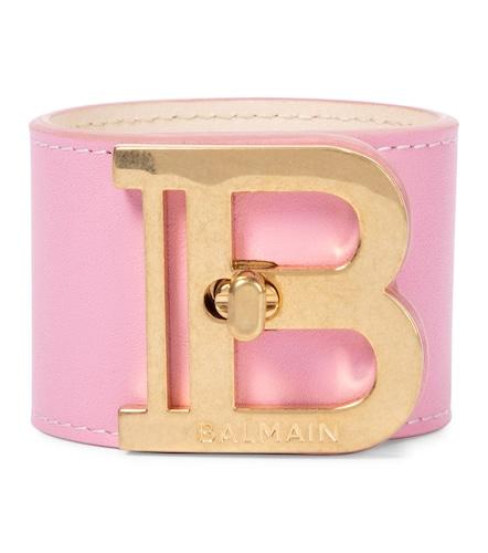 Bracelet manchette B-Twist en cuir - Balmain - Modalova