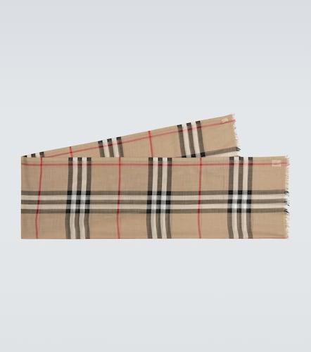Écharpe en laine et soie à carreaux - Burberry - Modalova