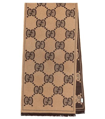 Écharpe GG en jacquard de laine mélangée - Gucci - Modalova