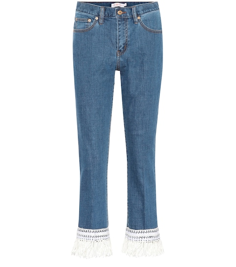 0dbdd943aa21 Tory Burch - Connor cropped jeans   Mytheresa