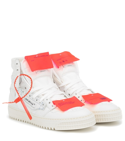 Off Court High top Leather Sneakers