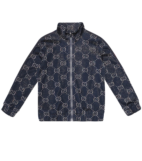 GG cotton blend track jacket