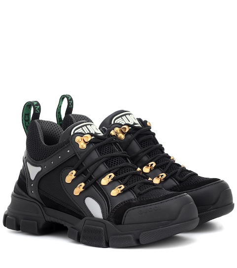 Flashtrek Leather Sneakers - Gucci