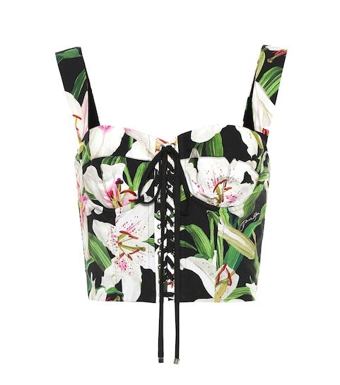 805c364bb Dolce   Gabbana - Top corsé mezcla de algodón floral