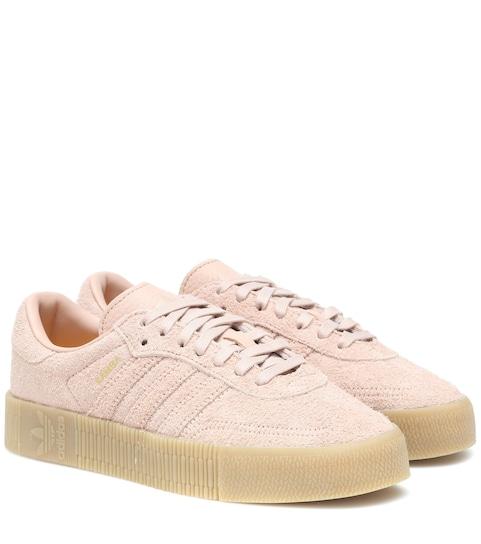 Sambarose suede sneakers