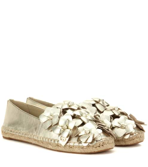 816e8494a43296 Tory Burch Blossom Leather Espadrilles from mytheresa - Styhunt