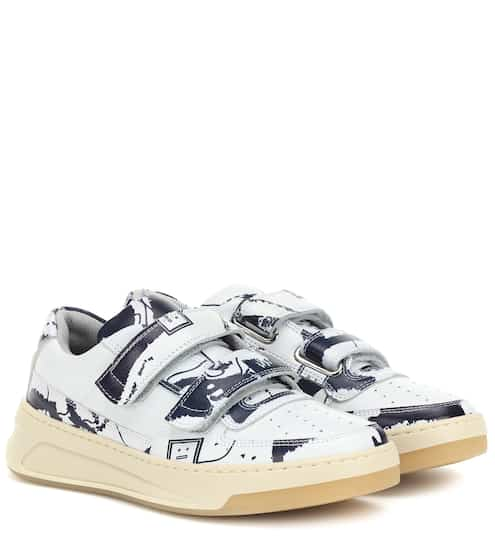 57786b2d678 Steffey Map leather sneakers   Acne Studios
