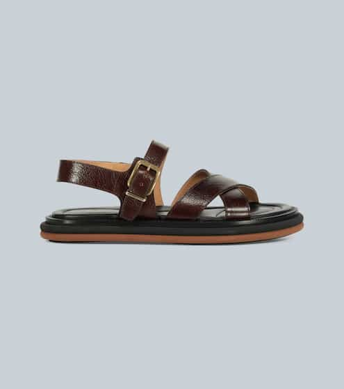 드리스 반 노튼 샌들 Dries Van Noten Leather-strap sandals