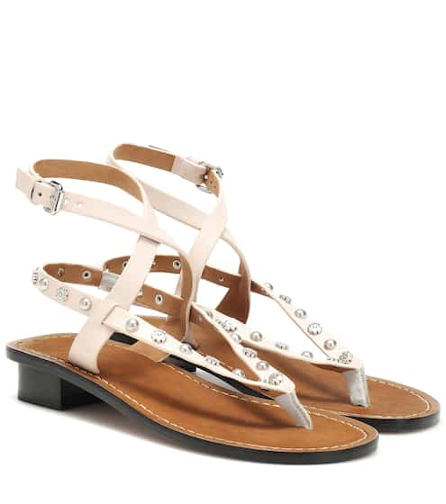 81186851c433 Exclusive to Mytheresa – Jings embellished leather sandals