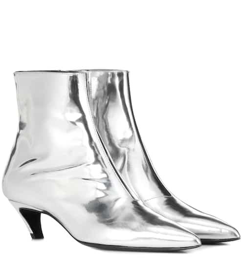 258c75116907b Ankle Boots Slash Heel aus Leder