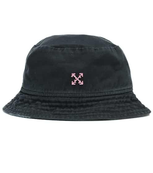 오프화이트 버킷모자 Off-White Logo cotton twill bucket hat
