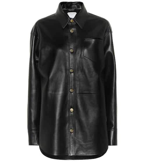 Leather shirt by Bottega Veneta, available on mytheresa.com for $5280 Kylie Jenner Outerwear SIMILAR PRODUCT
